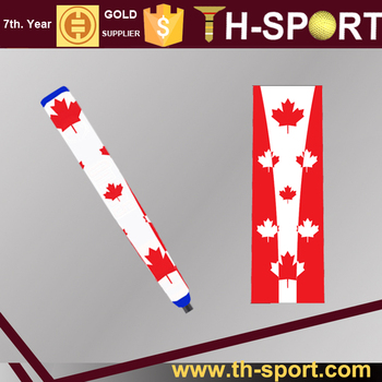Custom Canada flag golf PU putter grip for sale
