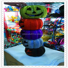 Hot sale glitter craft pumpkin for Halloween