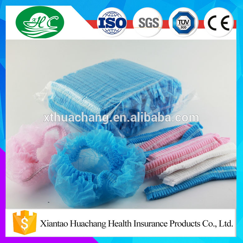 "Nonwoven Disposable Surgical Stripe Cap with 18"" 19"" 20"" 21"" 24"""
