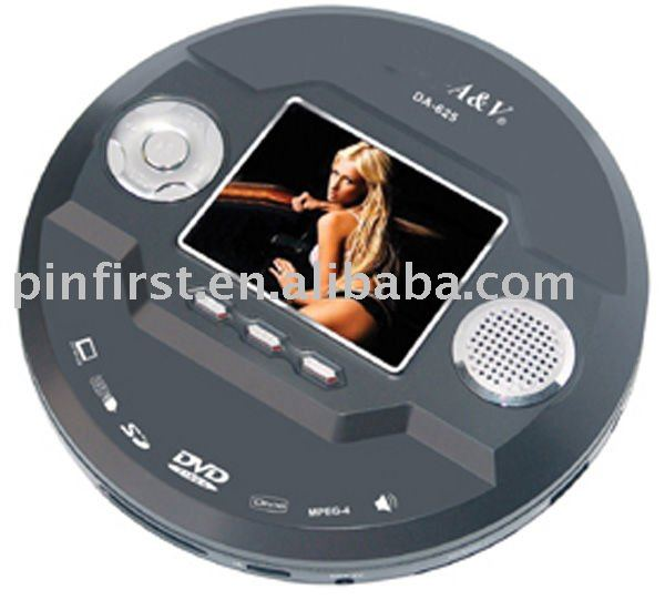 Round Portable DVD Player With MP4 SD Card USB Functions
