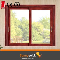 guannzhou factory aluminum sash window with double glass