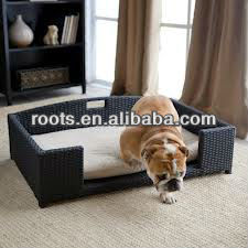 wicker poly rattan dog/cat bed