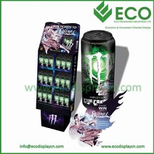 POS Eye Catching Plastic Display Shelves for Energy Drink Display