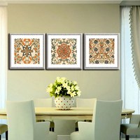 Complicated pattern decoration pop canvas art painting with low price
