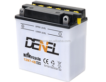 Motorcycle dry charged lead acid start battery