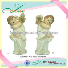High quality resin small angel figurines