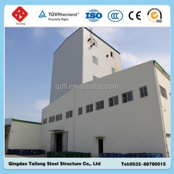 China Shandong Qingdao Prefabricated steel structure warehouse with drawings for sale