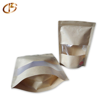 Manufacture Food Grade Customize Stand up Zip lock Cute Paper Bag with Window