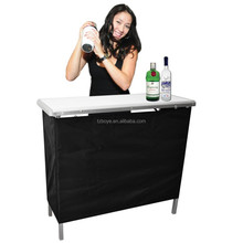 Portable High Top Party Bar table, Includes 3 Front Skirts and Carrying Case