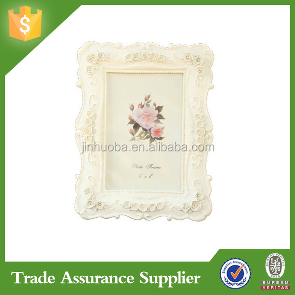 Baroque White Decorative Resin Handmade Picture Photo Frames Designs
