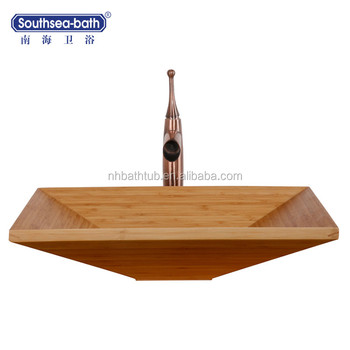 garden basin bamboo sink washbasin with cabinet