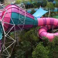 popular amusement equipment, fiberglass water park slides for sale