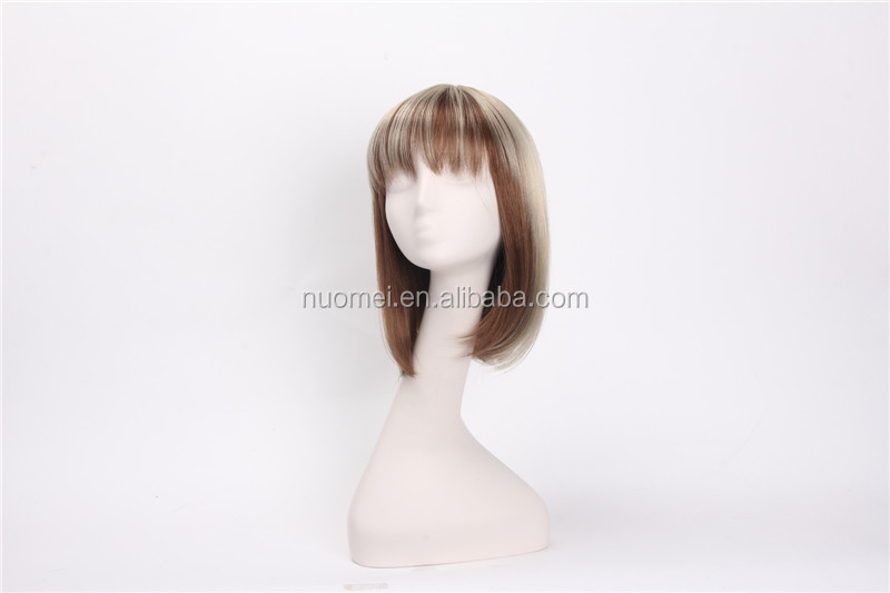 AC1364 short style grey hair wig,synthetic wigs,mix grey wigs
