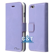 "C&T Wallet Case With Credit Card Slots PU Leather Flip Cover for iPhone 6 (4.7"")"
