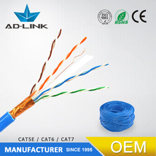 quality utp 23AWG telecommunication CU material 4 pair shield internet best price cat6 lan cable