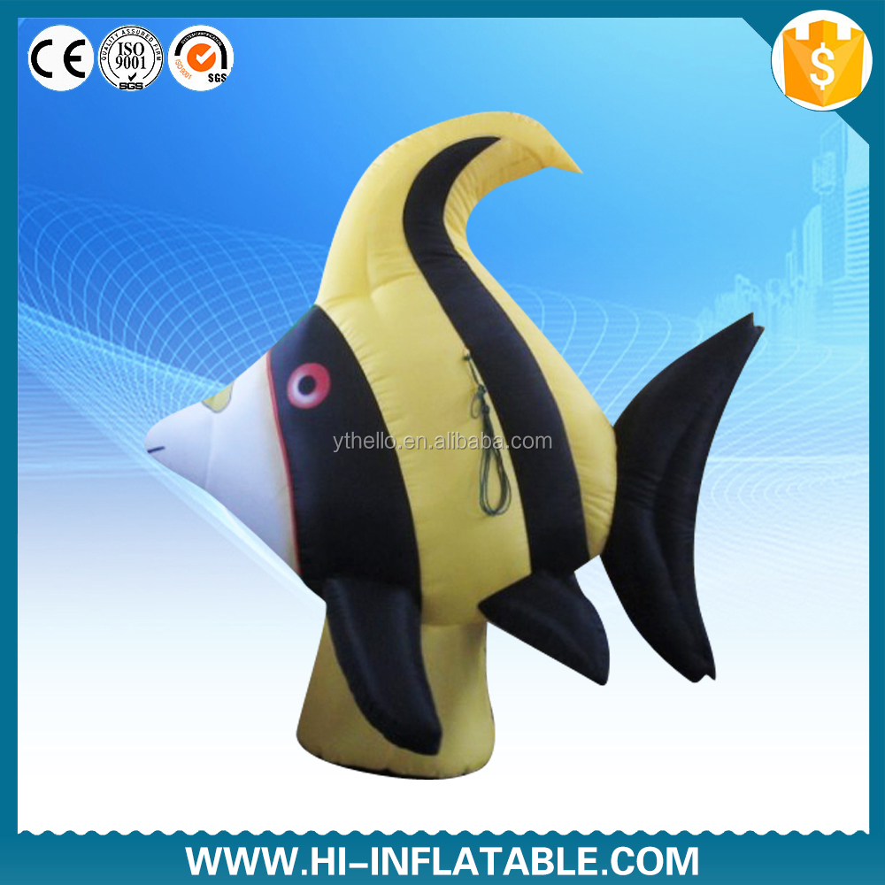 High quality promotion replica model inflatable tropical fish for sale