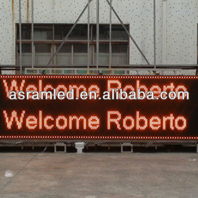 wholesale alibaba express cheap flexible portable digital scrolling text outdoor led scrolling message board