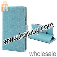 Gravel Texture Stand Wallet Leather Case For Nokia Lumia 520/525 with Card Slot