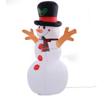 Inflatable Christmas Snowman Gemmy Decor Lighted Lawn Yard Outdoor