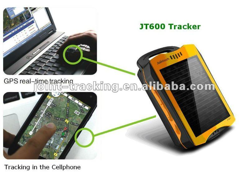 Personal GPS Tracker JT600 with solar panel, waterproof function