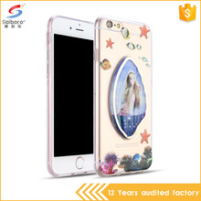 New arrivals 2017 quicksand liquid sea-maiden tpu bumper case for iPhone 7 plus