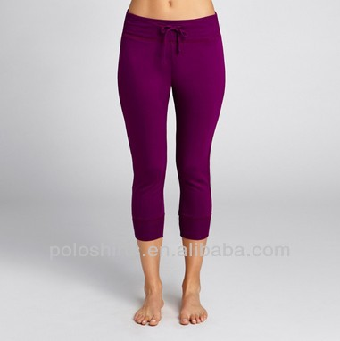 Ladies High Quality 95% Bamboo Fiber 5% Lycra Dance Fitness Pants Yoga Capri for Women