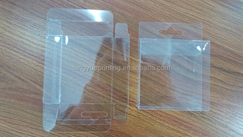 Printed foldable plastic box/small clear plastic boxes/plastic box packaging custom logo