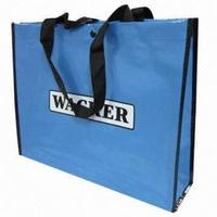 CMYK Color Printed PP woven custom shopping bags
