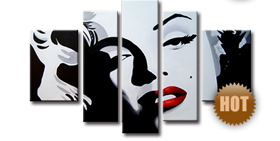 Wholesale Creative Marilyn Monroe Oil Paintng on Canvas