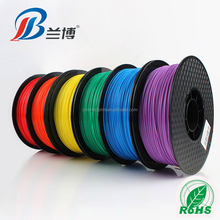LANBO good Selling PLA 3D filament 1.75 3.0mm 1kg/roll of 24 kinds colours PLA filament