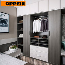 OPPEIN Eco-friendliness MDF Melamine White Wooden wardrobe bedroom furniture design