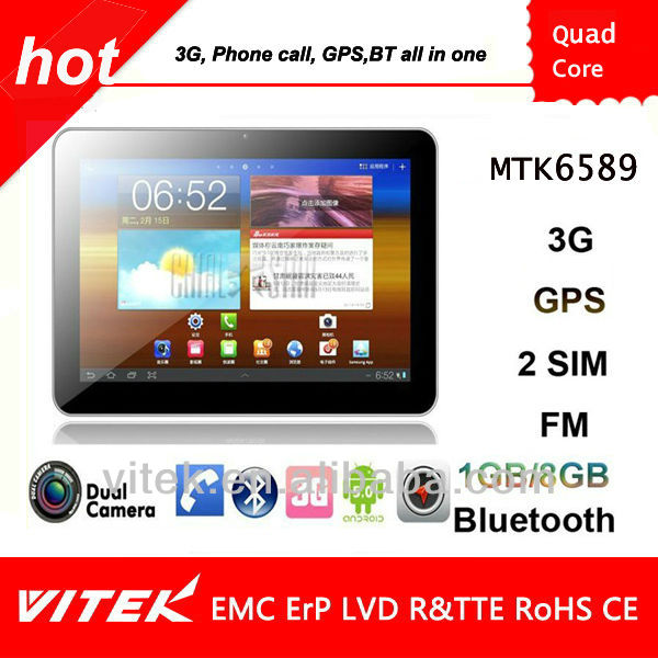 Android 5.0 with 10.1 inch 3G phone call Quad Core Tablet pc