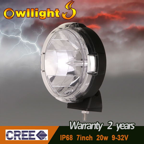 "7"" Round CREE 20W LED Offroad Light Work Light LED Driving Light"