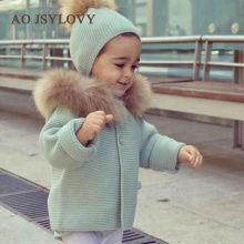 Wholesale Lovely Design Pretty New Born Winter Romper Knitted Baby Coat With Hood