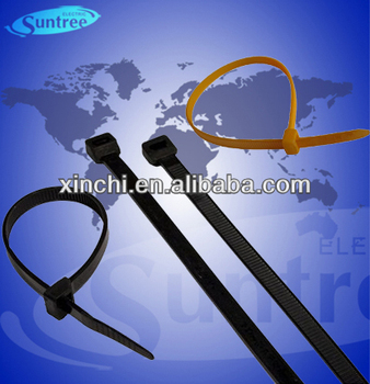 Anti-ultraviolet Black Nylon Cable Zip Ties