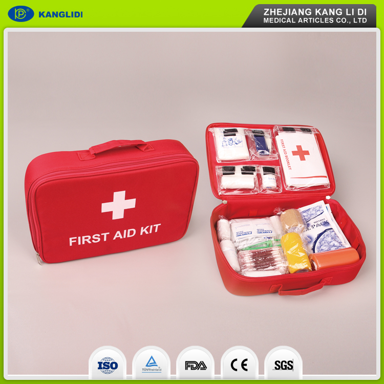 KLIDI Free Sample Available Customize Nylon Material Emergency First Aid Kit Bag