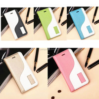 For iphone 5s smart leather cover case, mix color case for iphone 5SE