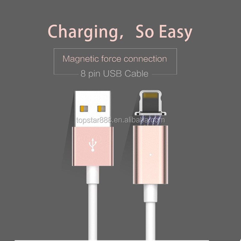 High quality Metal Magnetic Micro Usb Cable Magnetic Charging Cable Magnetic USB Cable For Iphone and Samsung all Smartphones