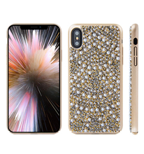 bulk buy from china new design for iphone x case pearl crystal full protective PC hard cover