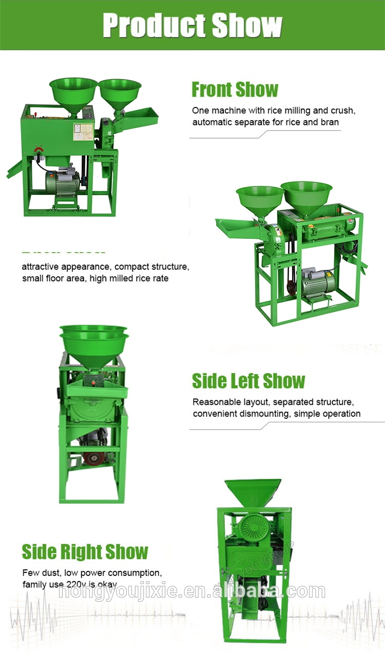 Professional Small Rice Mill Plant Machine For Home Use