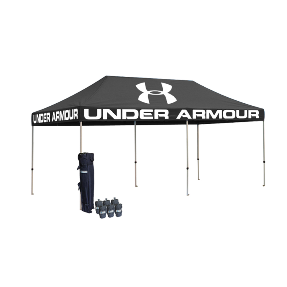 Shop outdoor <strong>trade</strong> show folding 10x20ft pop up canopy tent 40x40mm Aluminium frame with custom printed tent top and roller bag