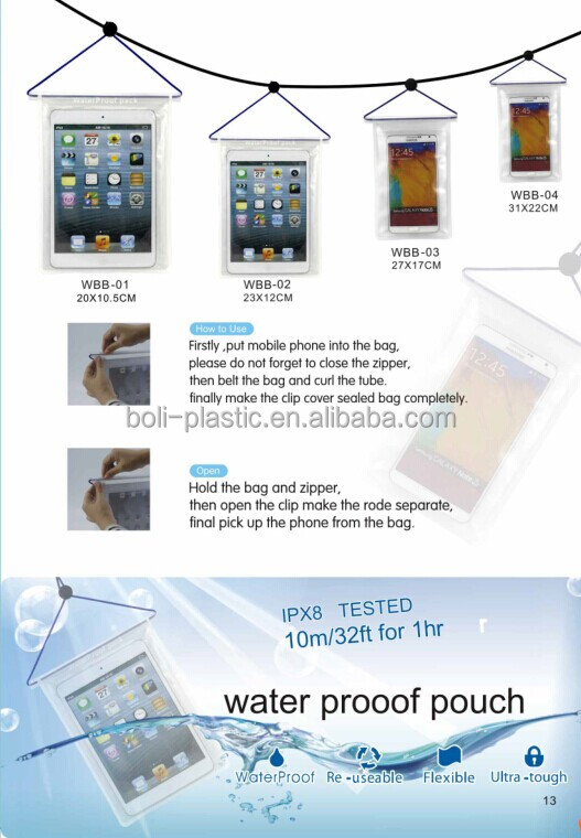 seal bag waterproof bag for IPAD MINI