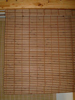 Bamboo Simple Roll Up Window blind shade natural color