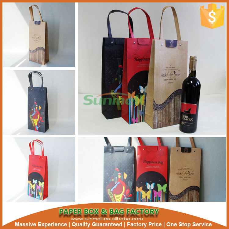bulk reusable wine tote bags with fashion style