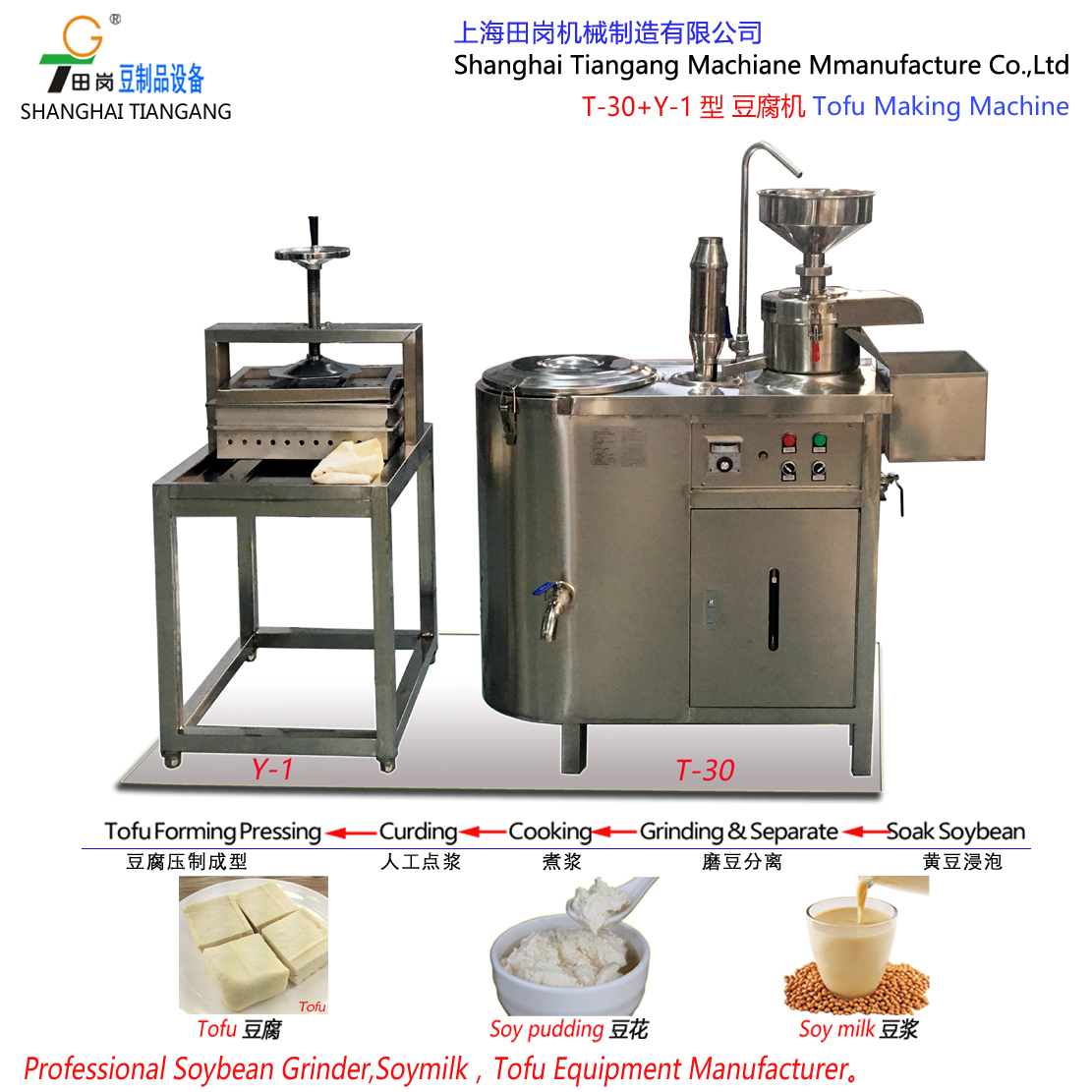TGM-100 Soyabean grinding machine / Soya milk machine/Minitype tofu machine