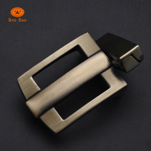 belt buckle manufacturers' wholesale press reversible belt metal brush brass hollow out buckle