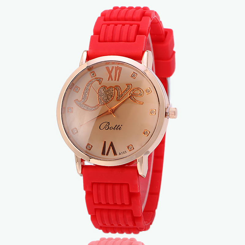 2017 Fashionable Colorful Silicone Sport Casual Quartz Watch Popular With Girls And Boys A153