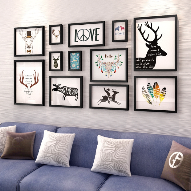 Modern Multi-panels Framed Wall Art For Home Decoration