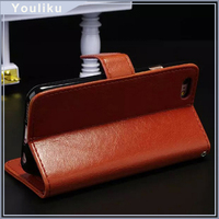 2016 High quality leather flip case for iphone 6/6S /5/5S/Plus6 with business card holder