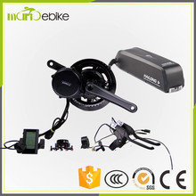 Electric bike conversion kits 36v 500w bafang bbs02 mid motor drive with 36v 13ah Li-ion HaiLong Battery